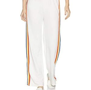 Forever 21 wide leg rainbow stripe joggers size L